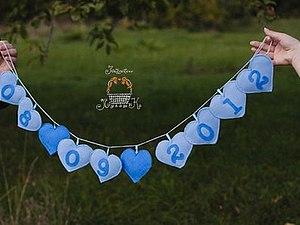 Скидка на гирлянду-растяжку с датой свадьбы! | Ярмарка Мастеров - ручная работа, handmade