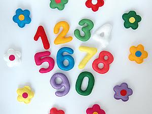 Игры с фетровыми цифрами | Ярмарка Мастеров - ручная работа, handmade