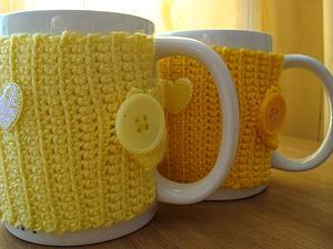 Чехлы - грелки для чашек в новой цветовой гамме | Ярмарка Мастеров - ручная работа, handmade