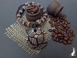 Процесс создания ожерелья из полимерной глины. Ярмарка Мастеров - ручная работа, handmade.