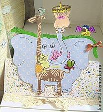 Многослойная аппликация для детской открытки | Ярмарка Мастеров - ручная работа, handmade