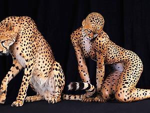 Звериный боди-арт в фотоработах Lennette Newell | Ярмарка Мастеров - ручная работа, handmade
