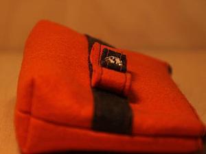 Косметичка из фетра. Оранжевая. | Ярмарка Мастеров - ручная работа, handmade
