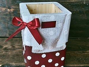 Мастер-класс «Вуалевая салфетка со складками на деревянном коробе» | Ярмарка Мастеров - ручная работа, handmade