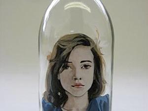 Портреты на бутылках Meghan Paterson   Ярмарка Мастеров - ручная работа, handmade