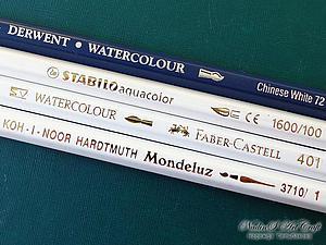 Сравнение белых акварельных карандашей при создании ООАК. Ярмарка Мастеров - ручная работа, handmade.