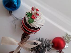 Создаем новогодний тортик из полимерной глины: делаем «вкусную ложку». Ярмарка Мастеров - ручная работа, handmade.