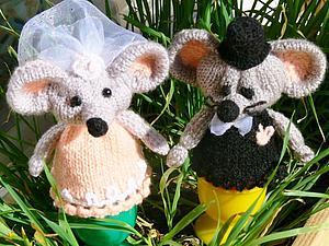 Поддержите,пожалуйста  сладкую парочку мышек Жених и Невеста на конкурсе смешной подарок на 1 апреля! | Ярмарка Мастеров - ручная работа, handmade