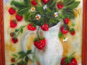 Мастер-класс по картинам из шерсти  - Лев, Букет цветов, пейзаж   Ярмарка Мастеров - ручная работа, handmade
