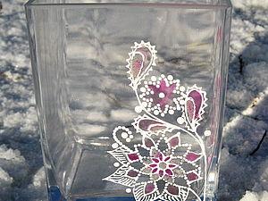 Снежная роспись | Ярмарка Мастеров - ручная работа, handmade