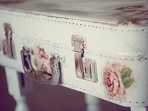 Декупаж старого чемодана своими руками мастер класс салфетками 113