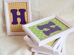Текстильные буквы в рамках | Ярмарка Мастеров - ручная работа, handmade