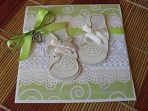 Открытка на рождения малыша. | Ярмарка Мастеров - ручная работа, handmade