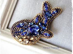 Вышиваем брошь-кулон «Королевский кит». Ярмарка Мастеров - ручная работа, handmade.