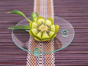 Мастер-класс по карвингу: цветок лотоса из киви. Ярмарка Мастеров - ручная работа, handmade.