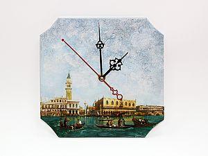 Часы в технике декупаж с кракелюром. | Ярмарка Мастеров - ручная работа, handmade