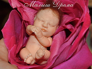 Малыш из полимерной глины Дремаhandmade