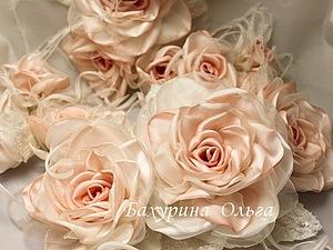 20 сентября мастер-класс по цветам из ткани.Композиция из роз | Ярмарка Мастеров - ручная работа, handmade