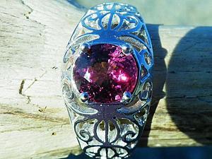 Аукцион! Филигранное кольцо со шпинелью! ЗАКОНЧЕН! | Ярмарка Мастеров - ручная работа, handmade