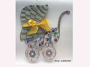 Панно - Подарок на рождение малыша.. Ярмарка Мастеров - ручная работа, handmade.