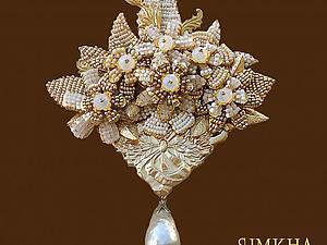 Мастер-класс: Брошь «Цветочная на ажурной металлической основе» крупная со сложным декором от Simkha | Ярмарка Мастеров - ручная работа, handmade