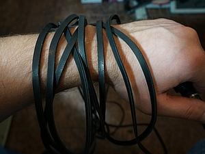 Нарезка шнурков из кожи. Ярмарка Мастеров - ручная работа, handmade.
