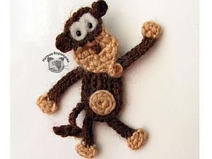 Мастер-класс по вязанию забавной обезьянки-магнита. Ярмарка Мастеров - ручная работа, handmade.