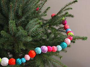 Елочная гирлянда Новый год 2014. Ярмарка Мастеров - ручная работа, handmade.