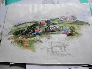 Я когда-то рисовала... Или эссе о городе, себе  и жизни. | Ярмарка Мастеров - ручная работа, handmade
