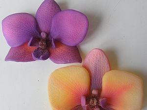 орхидея из пластики | Ярмарка Мастеров - ручная работа, handmade