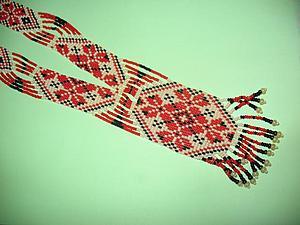 Плетем гердан из бисера. Ярмарка Мастеров - ручная работа, handmade.
