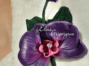 NEW!!! Очаровательная орхидея-брошь