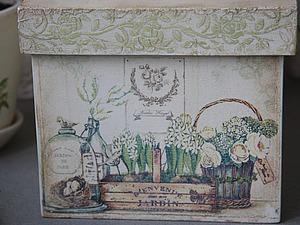 Декорируем весенний короб для хранения «Jardine de Paris». Ярмарка Мастеров - ручная работа, handmade.