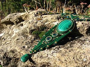 Мастер-класс по созданию колье «The Green Goddess». Ярмарка Мастеров - ручная работа, handmade.