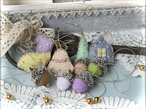 Новогодние маленькие игрушечки | Ярмарка Мастеров - ручная работа, handmade