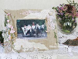 Мастер-класс: рамка для фото в эко-стиле с элементами шебби. Ярмарка Мастеров - ручная работа, handmade.