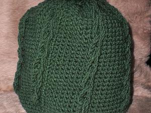 Вяжем теплую шапку с помпоном крючком. Ярмарка Мастеров - ручная работа, handmade.