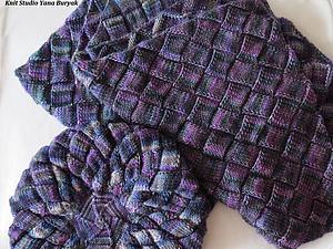 Создание берета и шарфа в технике энтрелак | Ярмарка Мастеров - ручная работа, handmade