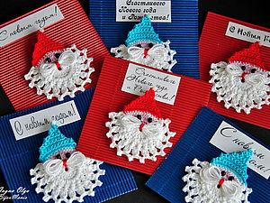 Новогодние магнитики своими руками | Ярмарка Мастеров - ручная работа, handmade