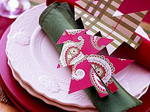 Сервировка новогоднего стола: салфетки   Ярмарка Мастеров - ручная работа, handmade