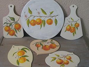 Курс «Роспись Мебели». урок №2- мандаринки | Ярмарка Мастеров - ручная работа, handmade