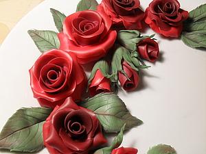 Мастер-класс: лепим розы из холодного фарфора. Ярмарка Мастеров - ручная работа, handmade.