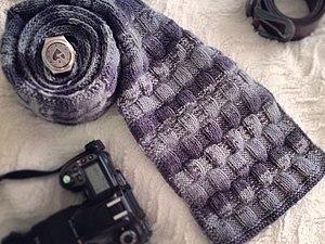 Как связать мужской шарф на спицах | Ярмарка Мастеров - ручная работа, handmade