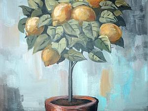 Рисуем лимонное дерево. Ярмарка Мастеров - ручная работа, handmade.