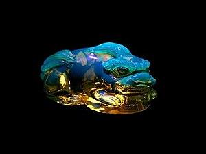 Удивительный камень голубой янтарь. Ярмарка Мастеров - ручная работа, handmade.