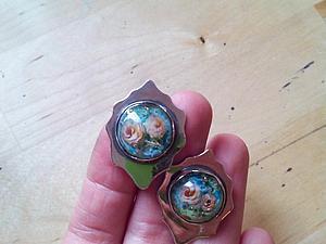 История создания одной пары сережек   Ярмарка Мастеров - ручная работа, handmade