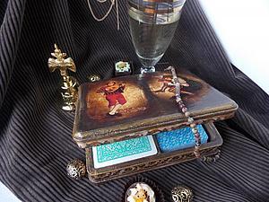 Мастер-класс: Декупаж и другие техники при изготовлении шкатулки для игральных карт. Ярмарка Мастеров - ручная работа, handmade.