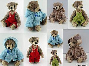 Осенняя коллекция вязаной одежды для Мишек Тедди | Ярмарка Мастеров - ручная работа, handmade
