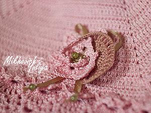 Вязаный цветок-украшение. Ярмарка Мастеров - ручная работа, handmade.