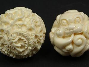 Одзимэ - японская резная бусина. Ярмарка Мастеров - ручная работа, handmade.